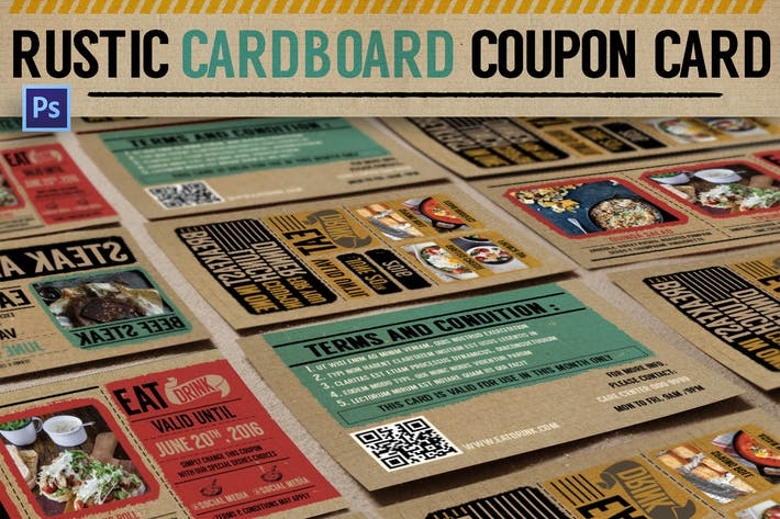 Cover Image For Rustic Cardboard Coupon Card