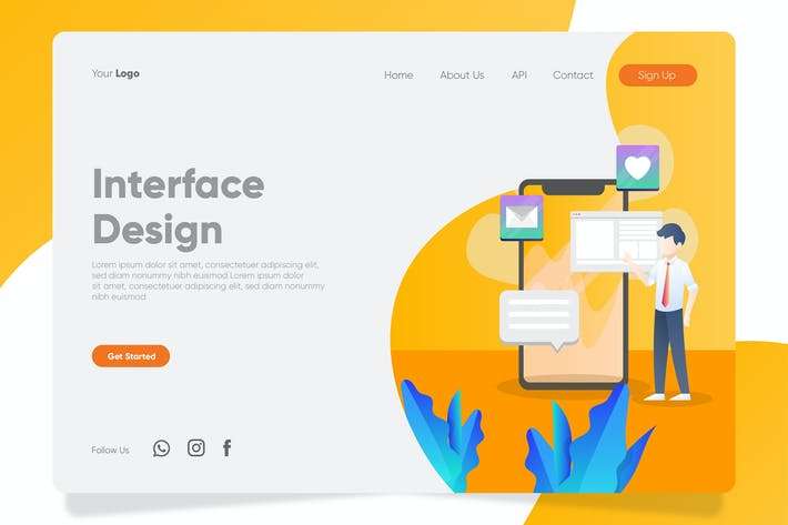 Thumbnail for Interface Design - Banner & Landing Page