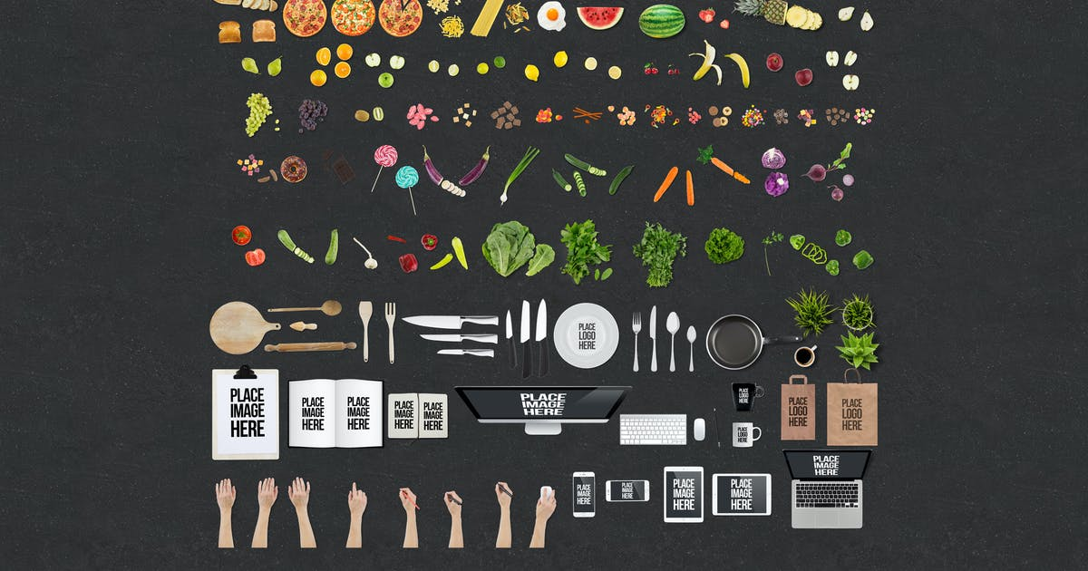 Download Food Mockup Toolkit by Premiumilk