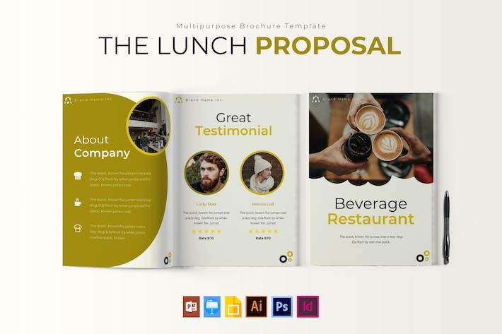 Le déjeuner | Modèle de brochure