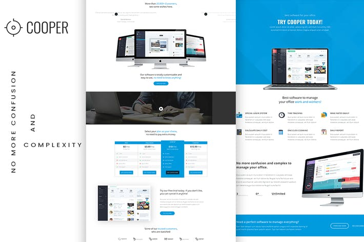 Thumbnail for App Landing HTML Template