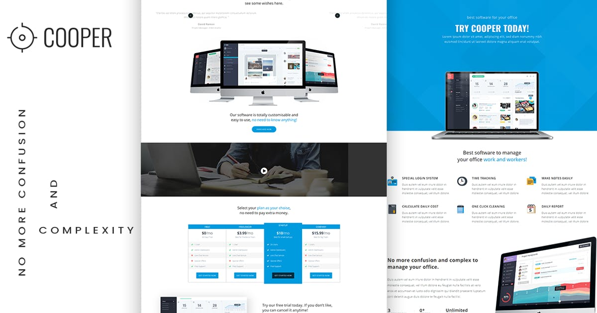 Download App Landing HTML Template by MarkhorThemes
