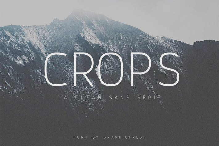 Thumbnail for Crops - A Clean Sans Serif