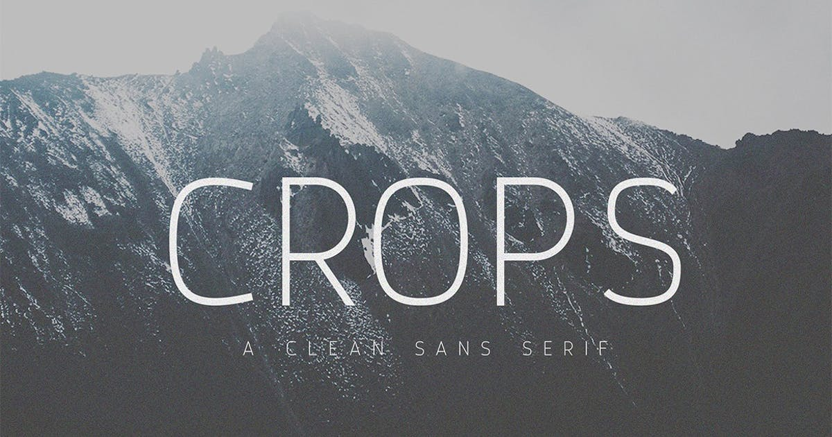 Download Crops - A Clean Sans Serif by sameehmedia