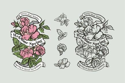 Spring Seasonal Quotes Badges