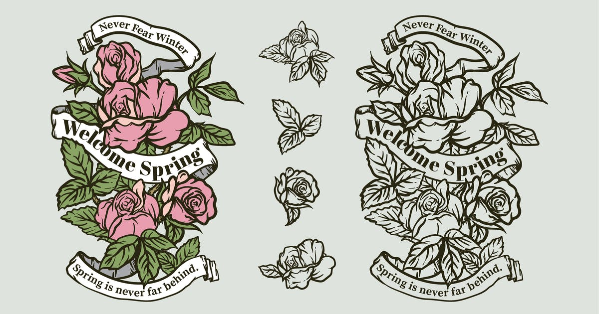 Download Spring Seasonal Quotes Badges by bayurakhmadio