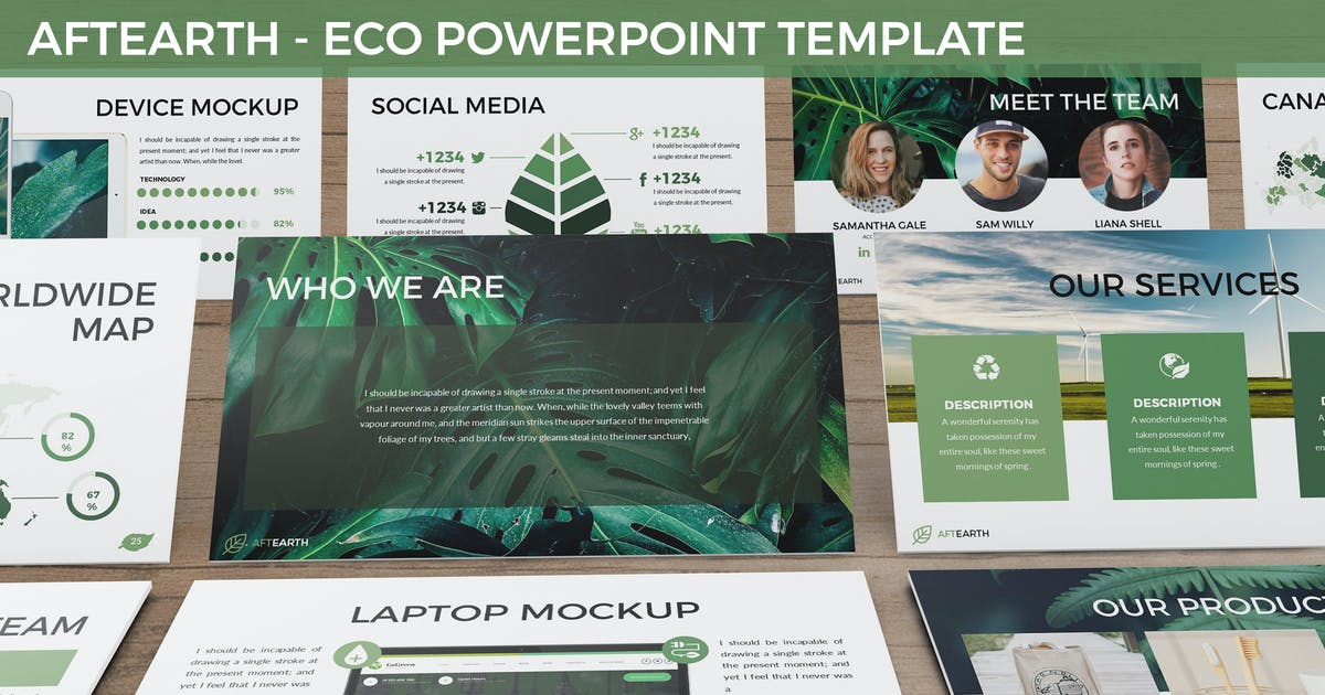 Download Aftearth - Eco Powerpoint Template by SlideFactory