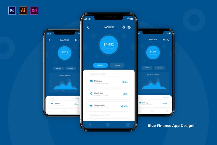 Thumbnail for Blue Finance App
