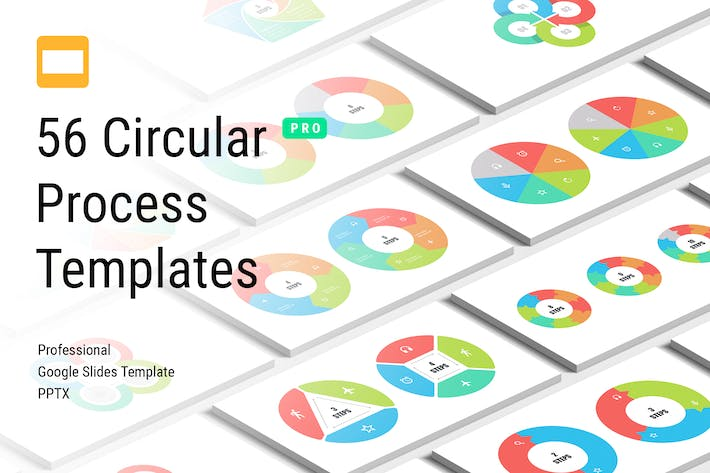 Thumbnail for Circular Process Google Slides Templates