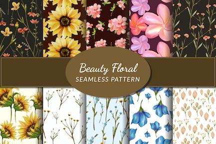 Nahtloses Blumenmuster der Schönheit