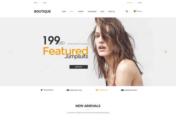 Thumbnail for Boutique - PSD Ecommerce Template