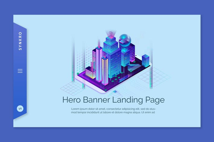 Synkro - Hero Banner Template