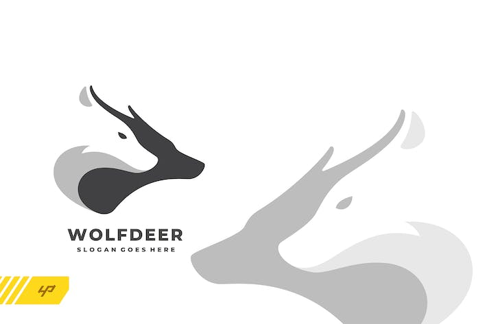 Thumbnail for Wolf Deer Logo Template