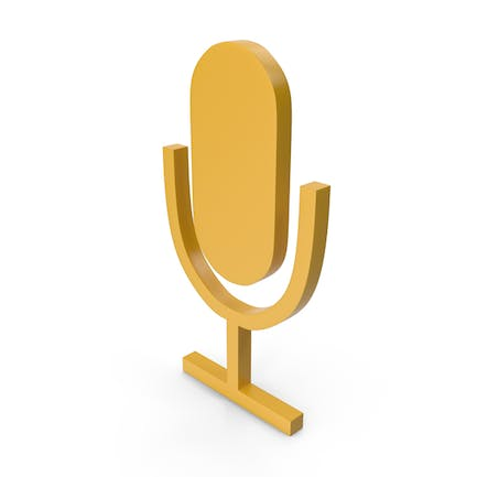 Microphone Yellow Icon