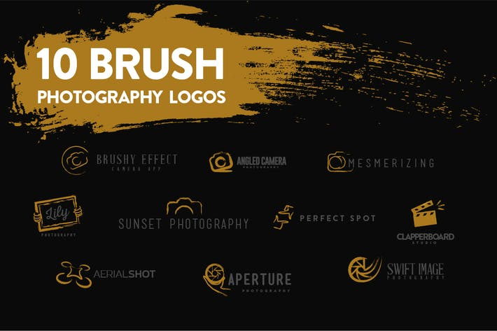 Thumbnail for 10 Brush Photography Logos