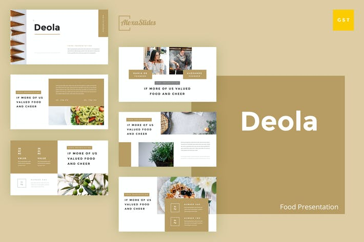 Thumbnail for Deola - Food Google Slides Template