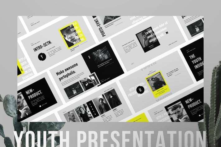 Cover Image For Youth Minimal Brand Business Presentation