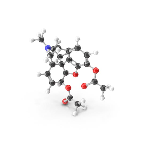 Molekularmodell Heroin