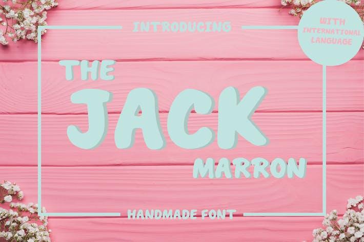 Thumbnail for The Jack Marron - Display Font