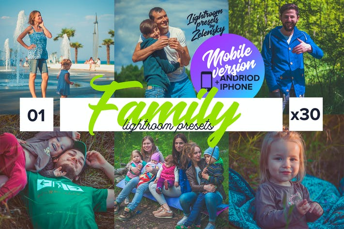 Thumbnail for Family Mobile Lightroom Presets by Zelensky