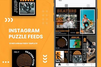 Instagram Puzzle - Skaters