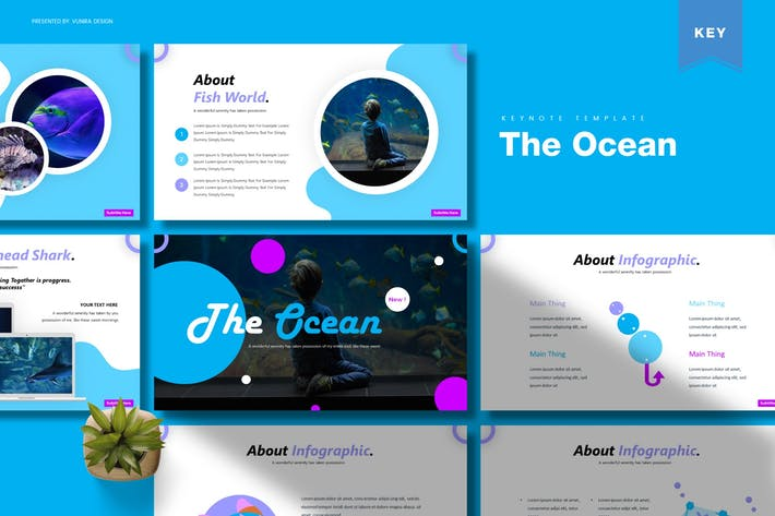 Thumbnail for The Ocean | Keynote Template