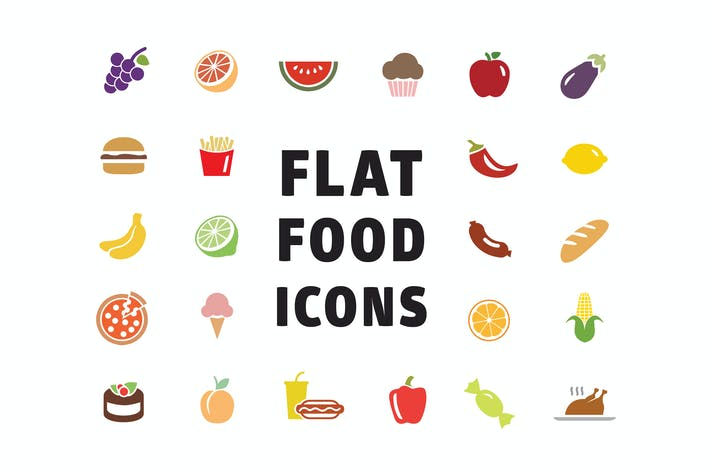 Thumbnail for Flat Food Icons