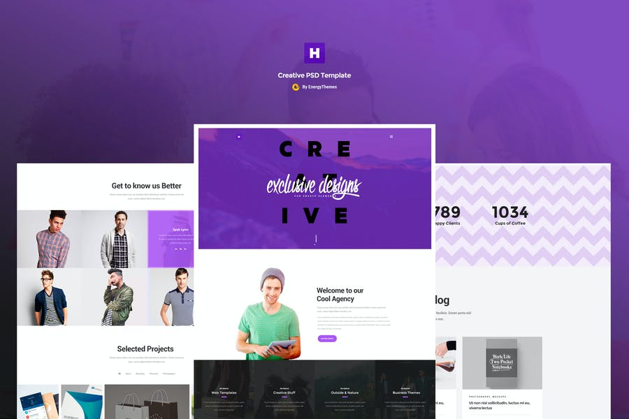 Hodor - Creative One Page PSD Template