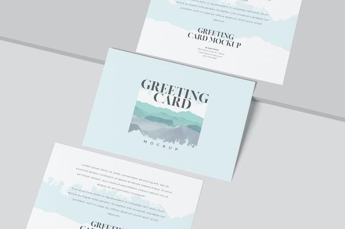 Thumbnail for Horizontale Einladung - Grußkarte Mock-ups