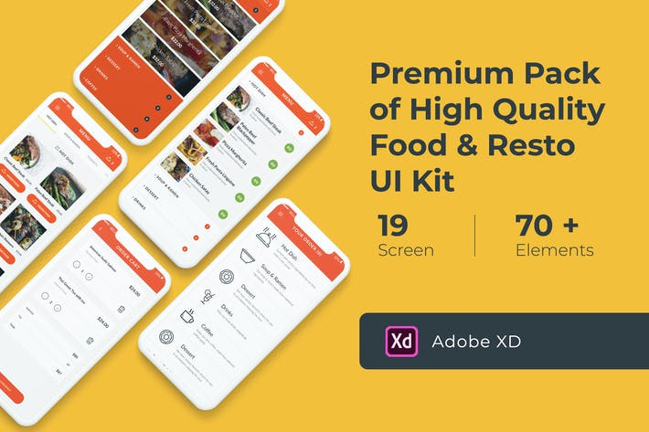 Thumbnail for Food and Resto UI KIT for XD