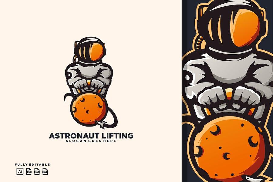 Astronaut Lifting Logo Templates