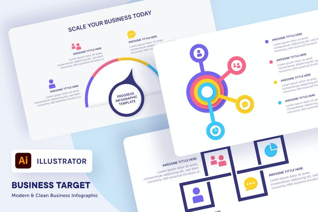 myAsset - Business Target Infographic