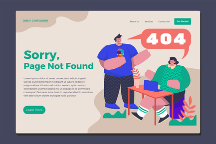 Error Page - Landing Page