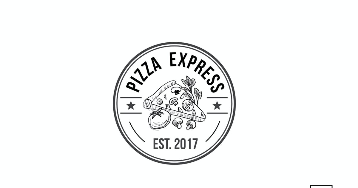 Download Pizza Retro Badge Logo Template by 83Oranges