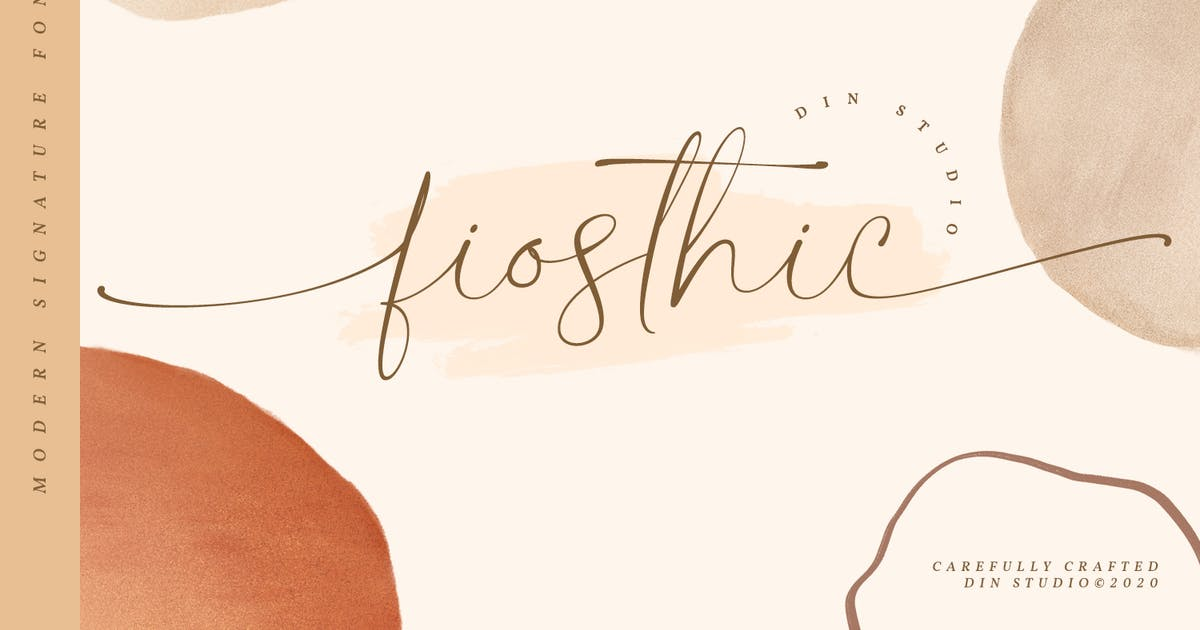 Download Fiosthic-Modern Signature Font by Din-Studio