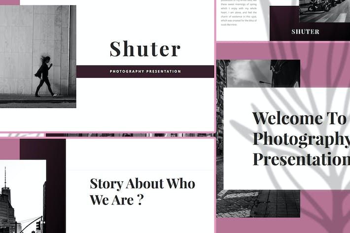 Thumbnail for Shuter – Photography Google Slide Template