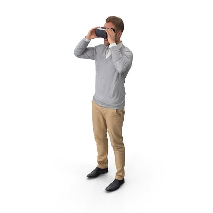 Casual Man With VR