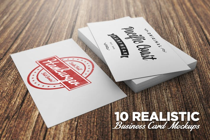 10 Realistic Business Card Mockups by Layerform on Envato Elements