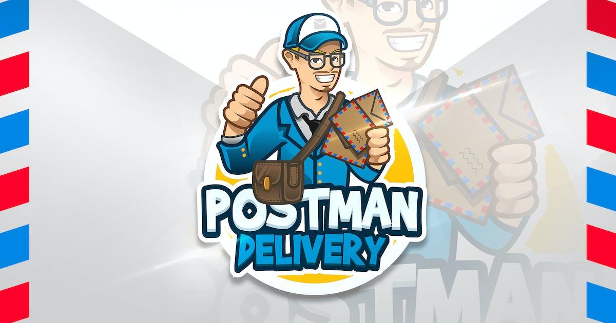 Postman Delivery - Mascot & Esport Logo by aqrstudio