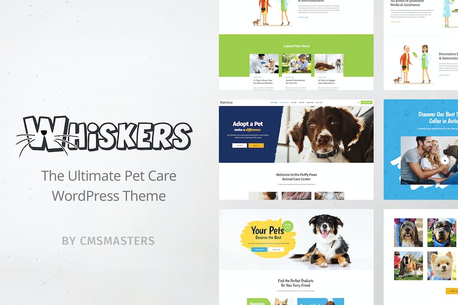 Whiskers - Pets Store  Vet Clinic  Animal Adoption