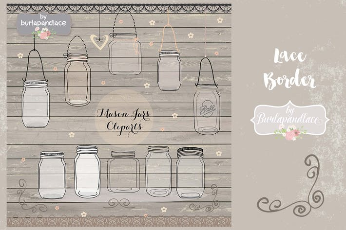 Thumbnail for Mason jar cliparts