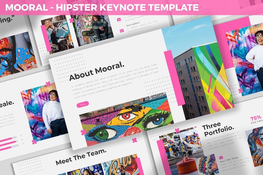 Mooral - Hipster Keynote Template