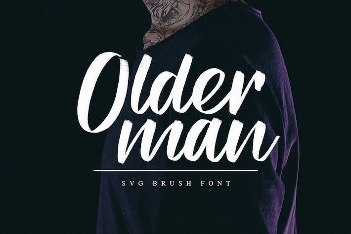 Thumbnail for Olderman SVG Brush Font