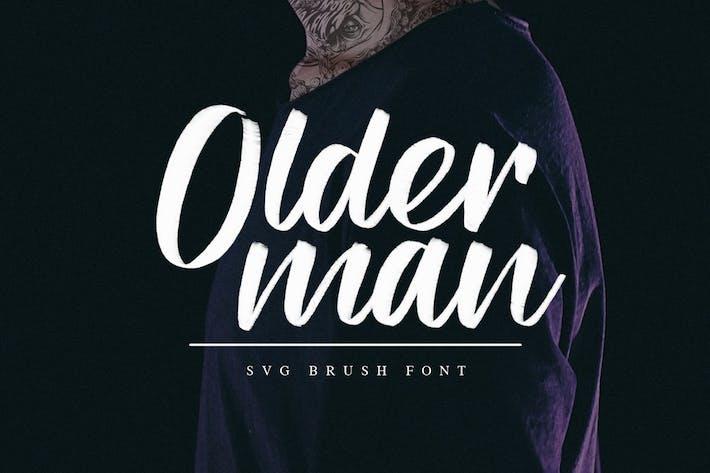 Thumbnail for Olderman SVG Brush Font