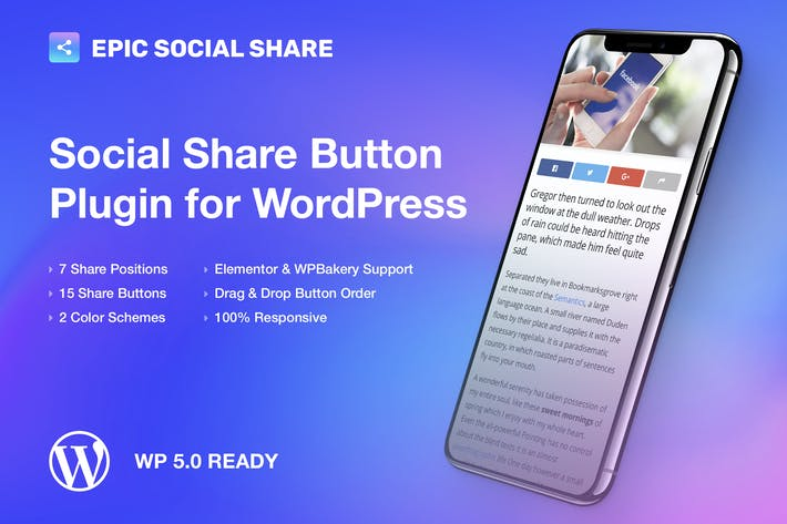 Thumbnail for Epic Social Share Button for WordPress
