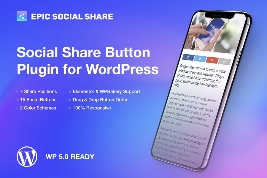 Epic Social Share Button for WordPress