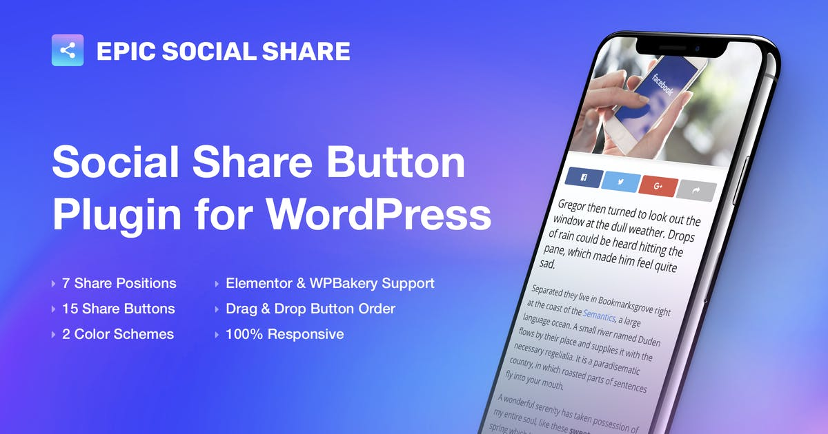 Download Epic Social Share Button for WordPress by jegtheme
