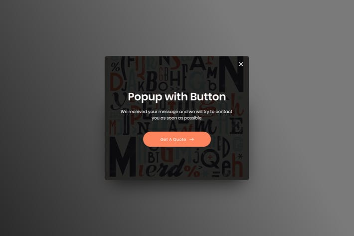 Thumbnail for Popup with Button - Adobe XD