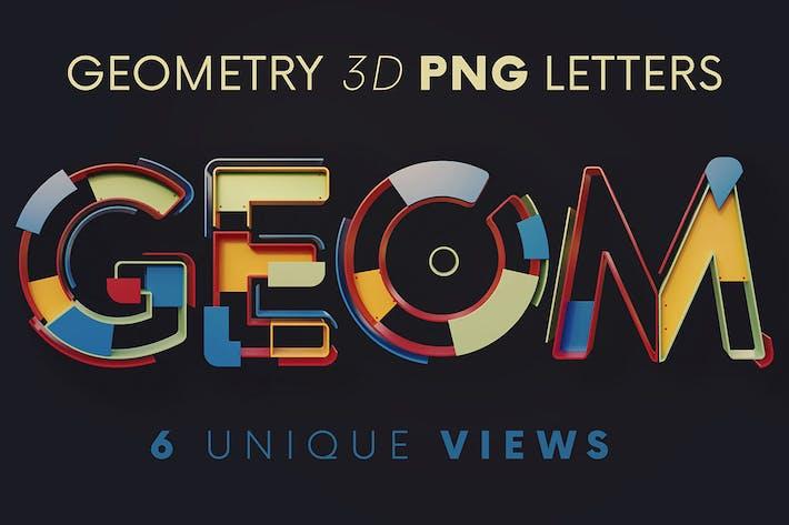 Геометрия - 3D надписи