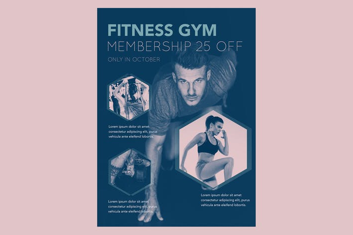 Thumbnail for Gym Membership Flyer Poster Vol 02